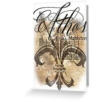 Athos - King's Musketeer grunge style Greeting Card
