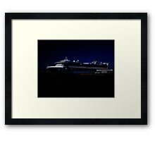 Star Princess at Night Framed Print