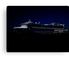 Star Princess at Night Canvas Print
