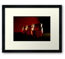 Three in red Framed Print