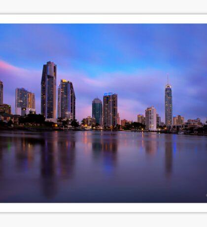 Gold Coast Skyline Sticker