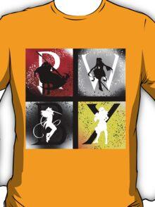 Team RWBY 4 Way Combo Characters T-Shirt