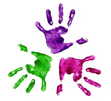 Hands Colored Photographic Print