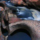 Black pond white water. by Donovan wilson