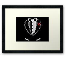 8-bit Tuxedo Framed Print