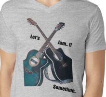 Let's Jam!! Mens V-Neck T-Shirt