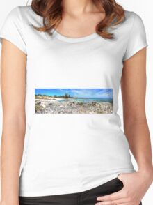 The Basin -  Rottnest Island WA - Panorama Women's Fitted Scoop T-Shirt
