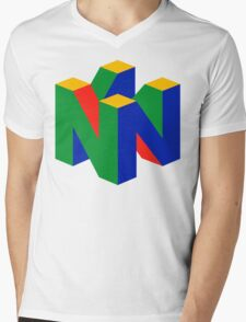 Nintendo 64 Mens V-Neck T-Shirt