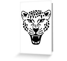 Roaring leopard Greeting Card
