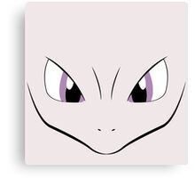 Mewtwo face Canvas Print