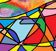 Rainbow Whale in a Sea of Dreams Sticker