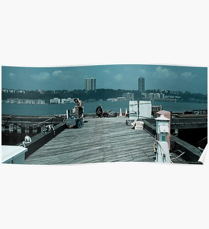 79th Street Boat Basin Jersey Shore Poster