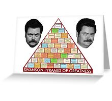 Swanson's Pyramid of Greatness Greeting Card