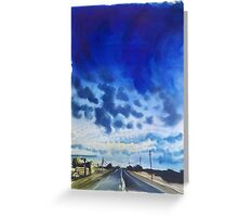 blue highway. Greeting Card