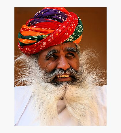 Smile from the wise man Photographic Print