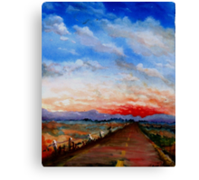 red highway Canvas Print