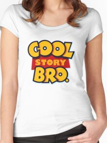 Cool Story Bro (Toy Story) Women's Fitted Scoop T-Shirt