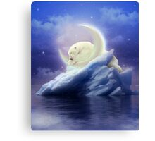 Guard Your Heart. Protect Your Dreams. (Polar Bear Moon) Canvas Print