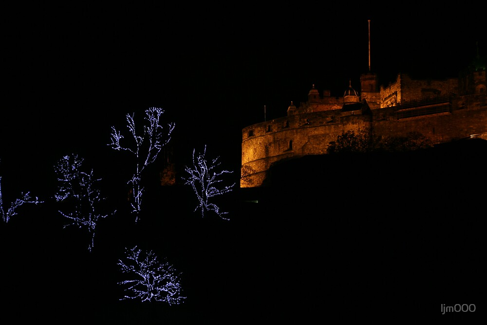 Edinburgh Castle and Christmas Trees  by ljm000