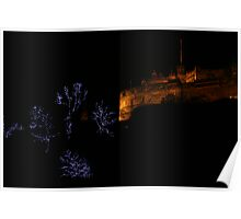Edinburgh Castle and Christmas Trees  Poster