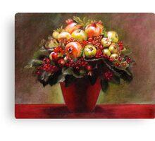 red bouquet Canvas Print