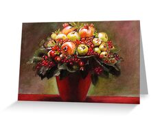 red bouquet Greeting Card