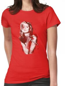 Splatter Buffy Womens Fitted T-Shirt