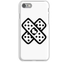 Crossed band-aids iPhone Case/Skin