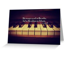 Mozart Music Greeting Card