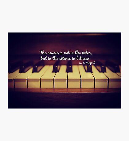Mozart Music Photographic Print