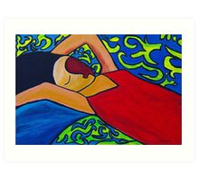 Canopied Bed Art Print