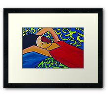 Canopied Bed Framed Print