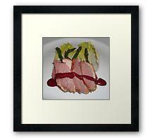 Stake and vegetables. Framed Print