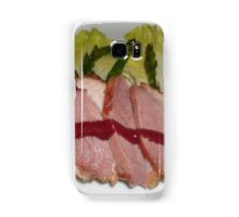 Stake and vegetables. Samsung Galaxy Case/Skin