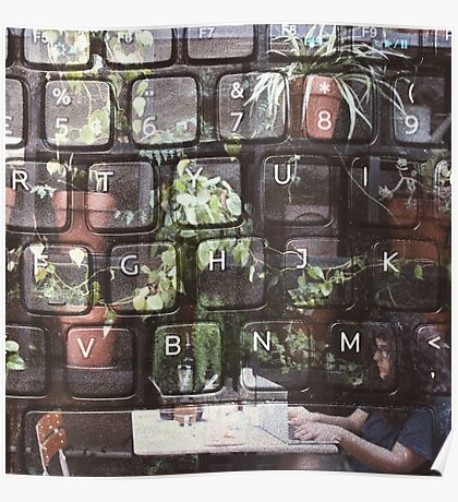Keyboard + Nature Poster