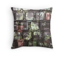 Keyboard + Nature Throw Pillow