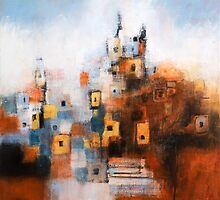 Church in Orange and Blue by Rupert  Cefai