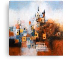 Church in Orange and Blue Canvas Print