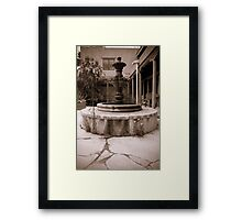 Not So Youthful Fountain Framed Print