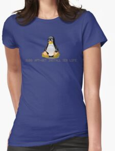 Linux - Get Install Sex Life Womens Fitted T-Shirt