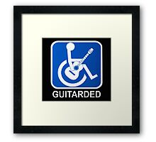 Guitarded Funny Guitar Design Framed Print