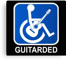 Guitarded Funny Guitar Design Canvas Print