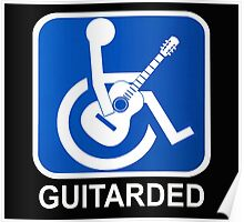Guitarded Funny Guitar Design Poster