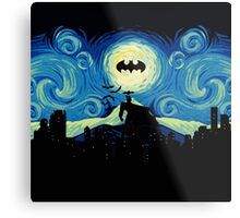 Starry Knight Gotham City Metal Print