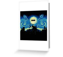 Starry Knight Gotham City Greeting Card