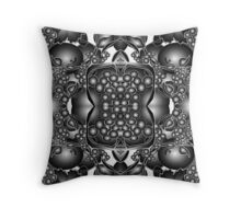 Study in black Throw Pillow
