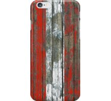 Flag of Austria on Rough Wood Boards Effect iPhone Case/Skin