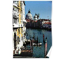 Grand Canal from the Accademia Bridge in Venice (Watercolor) Poster