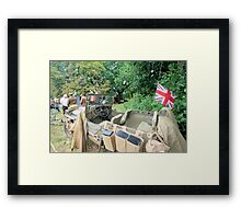 Jeep in the woods Framed Print