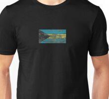 Flag of Bahamas on Rough Wood Boards Effect Unisex T-Shirt